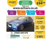 2014 BLUE BMW 330D 3.0 M SPORT DIESEL AUTO 4DR SALOON CAR FINANCE FR 54 PW