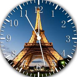 Eiffel Tower Frameless Borderless Wall Clock Nice For Gifts or Decor W398