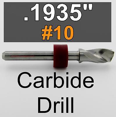 .1935 10 Solid Carbide Drill Bit 18 Shaft Cnc Wood Metal Plastic Steel Rs