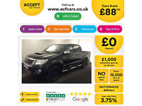 TOYOTA HILUX 2.4 D 3.0 D4-D INVINCIBLE X 4WD CrewCab Pick-up FROM £88 PER WEEK!