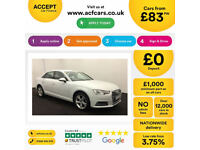 White AUDI A4 SALOON 1.4 1.6 1.8 TFSI Petrol SPORT S LINE FROM £83 PER WEEK!