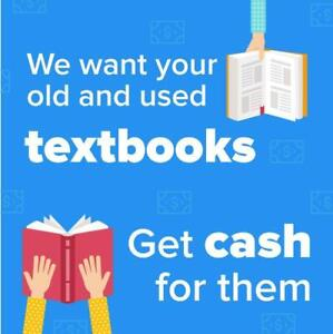 We want your old and used textbooks. Get cash for them!