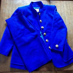 Tailleur Veste et jupe 3/4 Yves Saint Laurent bleu royal