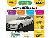 2014 WHITE AUDI A6 2.0 TDI S LINE DIESEL MANUAL SALOON CAR FINANCE FROM 54 P/WK