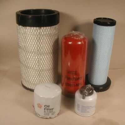 Filter Kit Fits Bobcat S220 S250 S300 St250 T300 A220 A300 Late High Flow Model