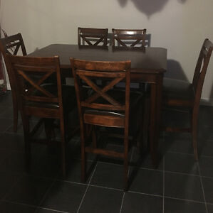 Beautiful Pub Style Table with 8 chairs