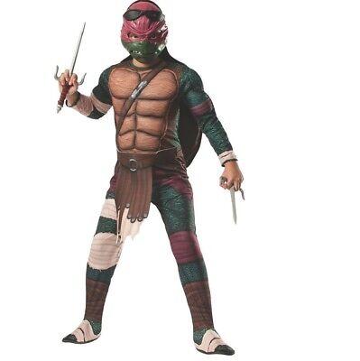 Teenage Mutant Ninja Turtle Deluxe Muscle Chest Childrens Raphael Costume 3 Size
