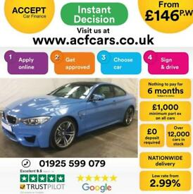 2016 BLUE BMW M4 3.0 T 425 BHP DCT PETROL AUTO 2DR COUPE CAR FINANCE FR £146 PW