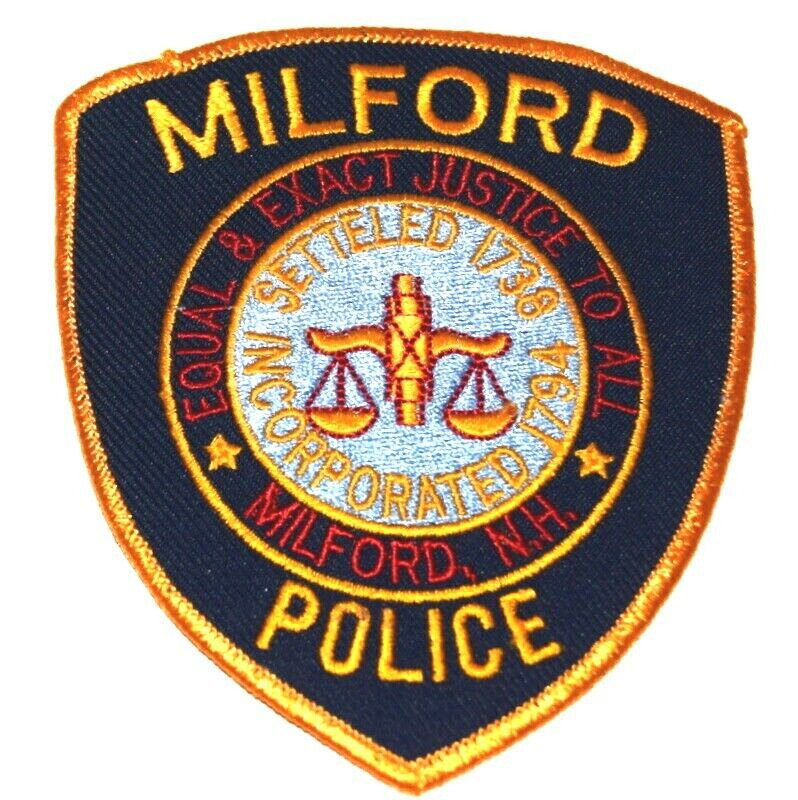 MILFORD NEW HAMPSHIRE NH Sheriff Police Patch SCALE OF JUSTICE ~