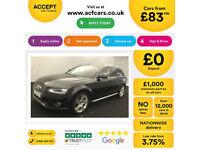 Black AUDI A4 ESTATE 1.6 1.8 2.0 TDI Diesel SPORT FROM £83 PER WEEK!