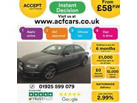 2015 GREY AUDI A4 2.0 TDI BLACK EDITION DIESEL SALOON CAR FINANCE FROM 58 P/WK