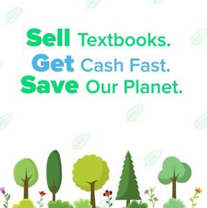 Sell textbooks. Get cash fast. Save the planet.
