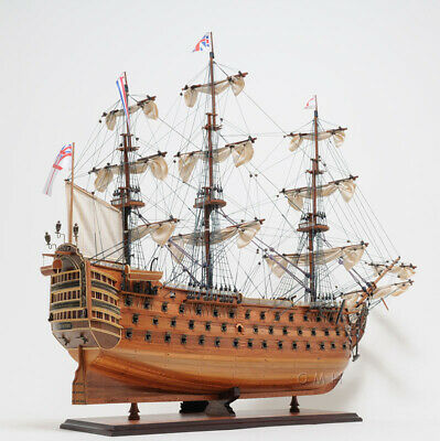 HMS Victory Tall Ship Wooden Scale Model Sailboat 30