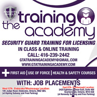 Security Guard Job Placements & Security Training for Licensing