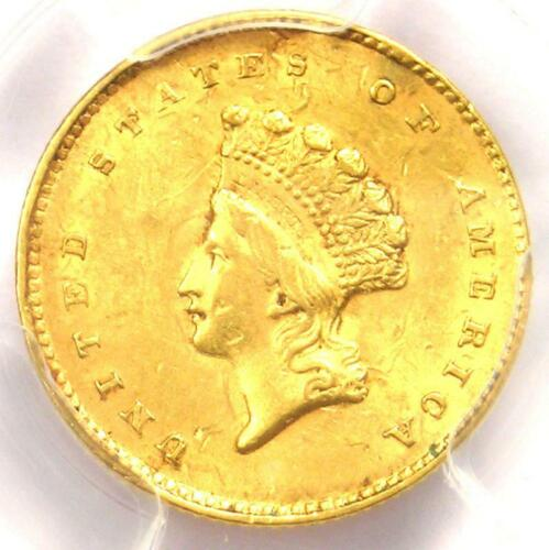 1855 Type 2 Indian Gold Dollar (G$1 Coin) - PCGS Uncirculated Details (UNC MS)!