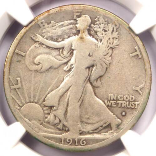 1916-S Walking Liberty Half Dollar 50C - Certified NGC VG10 - Rare Date Coin!