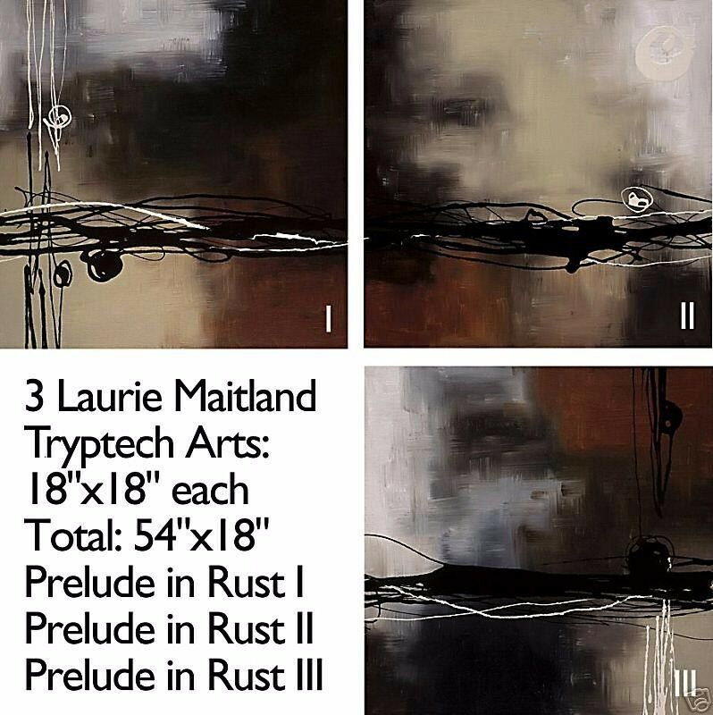 RESONANCE SET by LAURIE MAITLAND 2PC CANVAS 24x24 24x24 and MUSICAL IDEAS