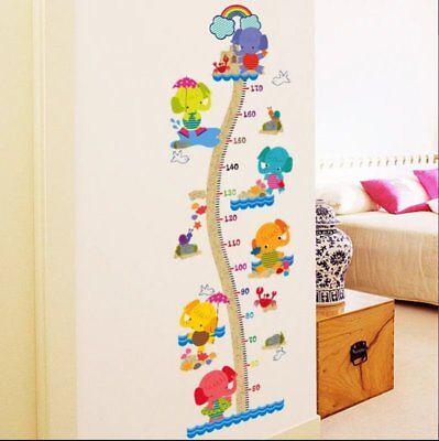 Messlatte Kinderzimmer Wandtattoo Wandsticker Baby  Elefant XXL