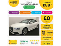 White AUDI A5 CABRIOLET 1.8 TFSI Petrol S LINE Special Edition FROM £88 PER WEEK