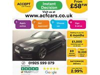 2014 BLACK AUDI A5 2.0 TDI BLACK EDITION AUTO COUPE CAR FINANCE FROM 58 P/WK