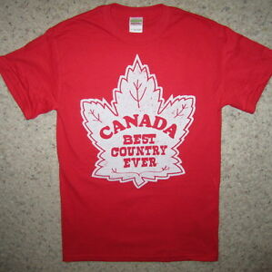 Canada best country ever funny canadian mapleleaf vintage for Best hockey t shirts