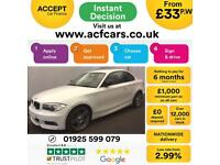 2013 WHITE BMW 118D 2.0 SPORT PLUS EDITION DIESEL COUPE CAR FINANCE FR 33 PW