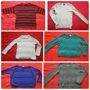 Lot of 6 ladies sweaters all size S-M