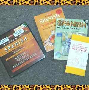 Mastering Spanish English Learning Books CD Lot