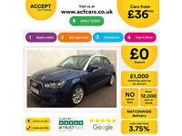 BLUE AUDI A1 1.0 1.2 1.4 T FSI SE SPORT S LINE BLACK EDITION FROM £36 PER WEEK!