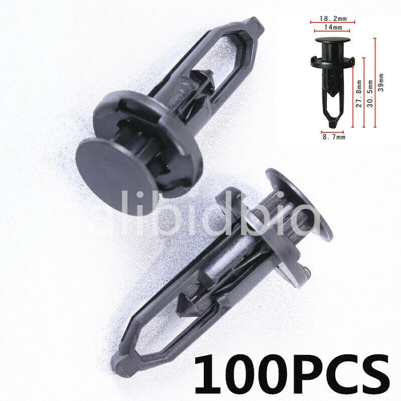 50Pcs Front Bumper Retainer Push Type Clip Fastener 52161-16010 for Toyota