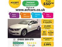 2015 WHITE VW PASSAT 2.0 TDI 150 SE DSG DIESEL AUTO SALOON CAR FINANCE FR £50 PW