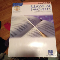 Clarinet sheet music book: Classical Favourites