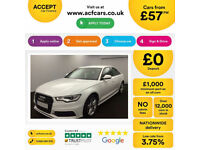 White AUDI A6 SALOON 2.0 3.0 TDI Diesel BLACK EDITION FROM £57 PER WEEK!
