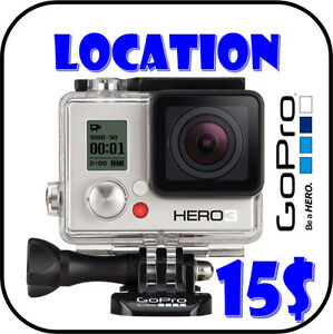 LOCATION Caméra GoPro Hero 3 White Edition pour sports, camping