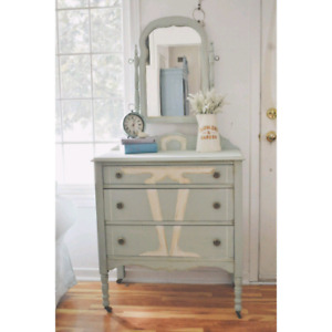 beautiful art deco dresser with mirror. great deal!