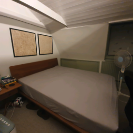 Muji Large Double Platform Bed & Mattress