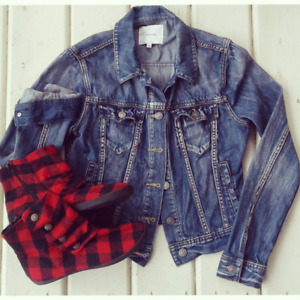 Aritzia Jean Jacket, TOMS, Urban Outfitters