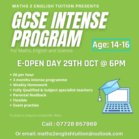 GCSE programme for community Maths, English and Science