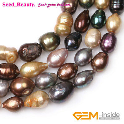 Freshwater Pearls Loose Craft Beads - Assorted Color Freeform Freshwater Pearls Loose Beads for Jewelry Making 15