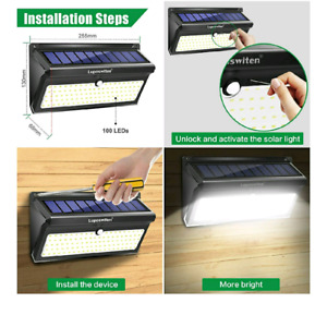Solar powered motion activated led light BNIB