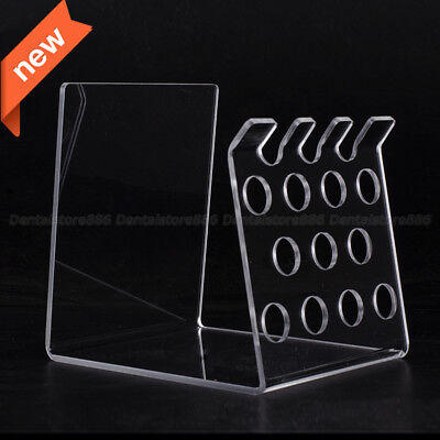Dental Transparent Resin Composite Syringe Acrylic Organizer Holder Case Frame