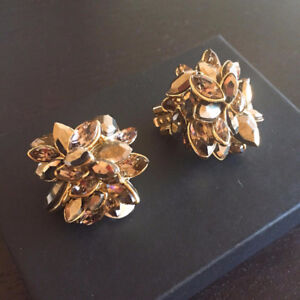 Brand new Alexis Bittar crystal cluster clip earrings ($198)
