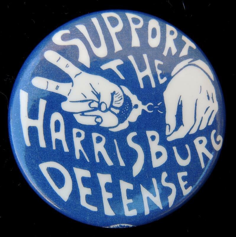 Support The Harrisburg Defense 1971 Anti-Vietnam War Cause Pinback Button