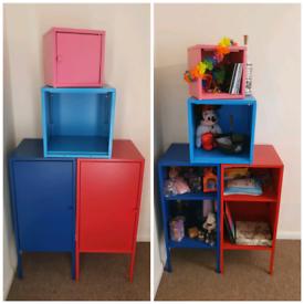 Ikea metal coloured storage