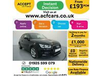2016 BLACK AUDI A1 1.6 TDI 116 SPORT DIESEL 3DR HATCH CAR FINANCE FR £193 PCM