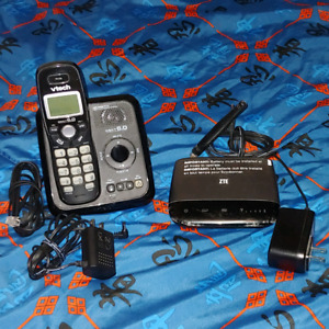 Rogers wireless home phone and cordless handset.