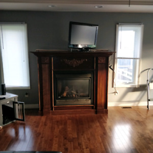 Fireplace surround with mantel