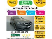 2015 GREY MERCEDES CLA220 2.1 CDI SPORT AUTO COUPE CAR FINANCE FR £257 PCM