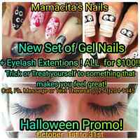 Gel nails and Eyelash extentions for $100!