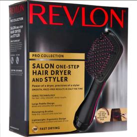 Hair brush dryer and styler